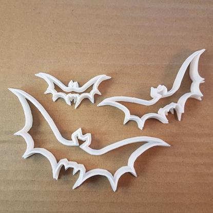 Picture of Bat Vampire Halloween Shape Cookie Cutter Animal Biscuit Pastry Fondant Sharp