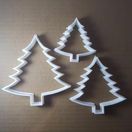 Picture of Tree Fern Christmas Xmas Shape Cookie Cutter Dough Biscuit Pastry Stencil