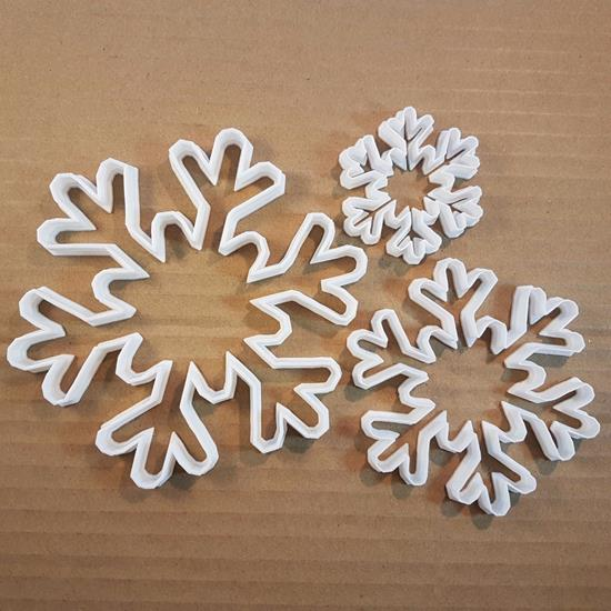 Picture of Snowflake Winter Snow Shape Cookie Cutter Dough Biscuit Pastry Fondant Sharp