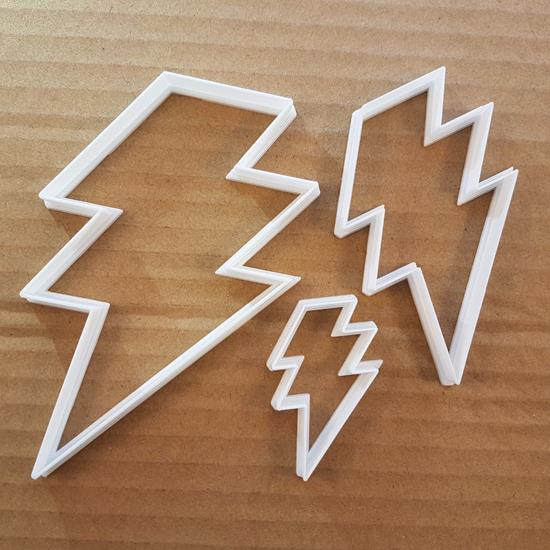 Picture of Lightning Electric Bolt Storm Shape Cookie Cutter Weather Biscuit Pastry Stencil