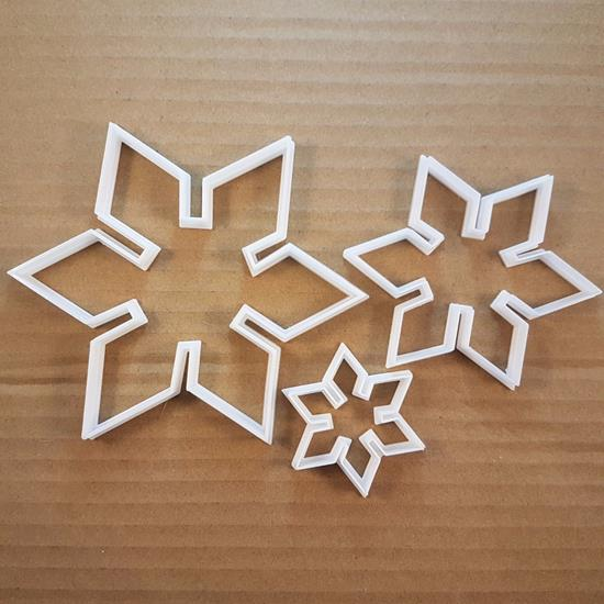 Picture of Snowflake Christmas Winter Shape Cookie Cutter Xmas Biscuit Pastry Fondant Sharp