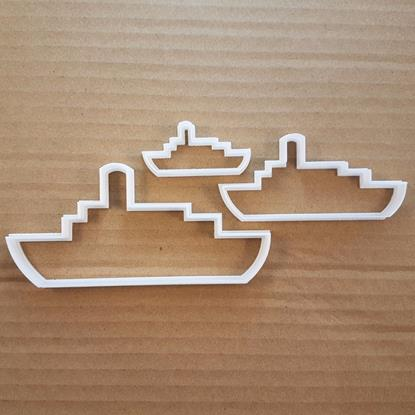 Picture of Boat Ship Carrier Steam Shape Cookie Cutter Dough Biscuit Pastry Fondant Sharp