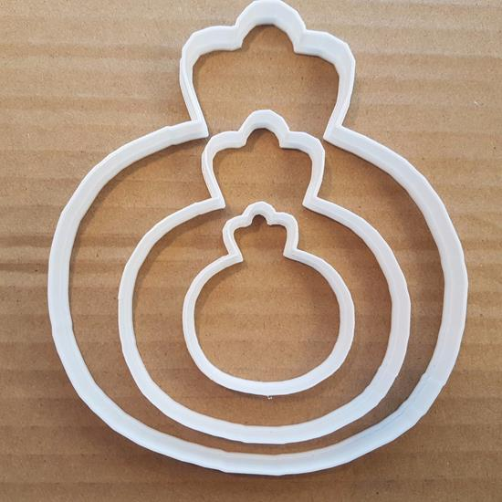Picture of Bauble Tree Decoration Xmas Shape Cookie Cutter Dough Biscuit Pastry Stencil