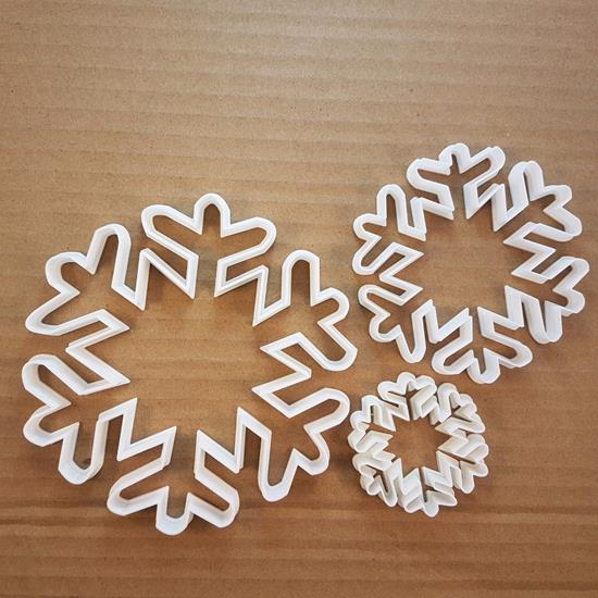 Picture of Snowflake Frost Weather Shape Cookie Cutter Dough Biscuit Pastry Fondant Sharp