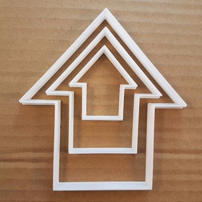 Picture of Arrow Way Point House Shape Cookie Cutter Dough Biscuit Pastry Fondant Sharp