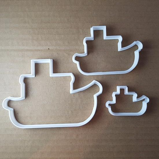 Picture of Boat Ship Steam Fishing Shape Cookie Cutter Vehicle Biscuit Pastry Fondant Sharp