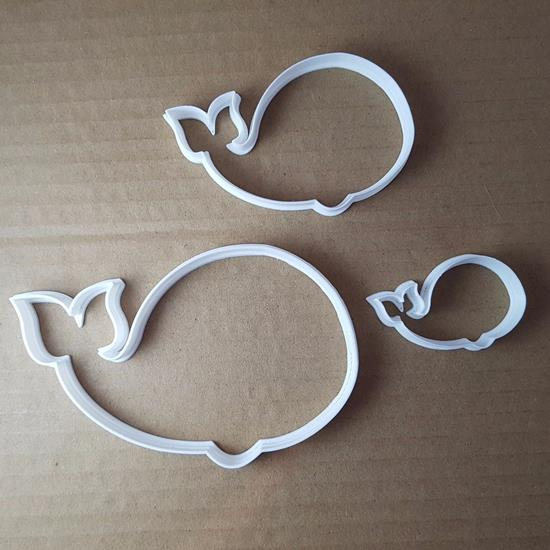 Picture of Whale Fish Blue Beluga Shape Cookie Cutter Animal Biscuit Pastry Fondant Sharp