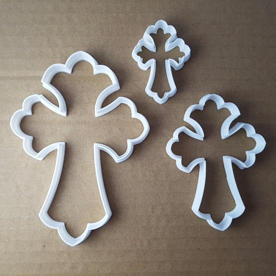 Picture of Cross Crucifix Celtic Shape Cookie Cutter Dough Biscuit Pastry Fondant Sharp