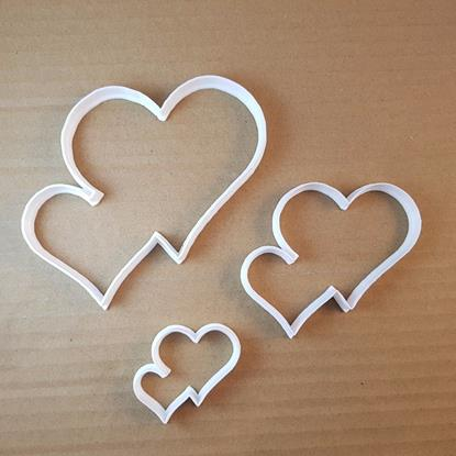 Picture of Heart Valentines Day Love Shape Cookie Cutter Dough Biscuit Pastry Fondant Sharp