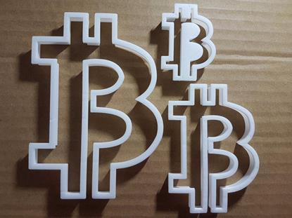 Picture of Crypto Currency BTC Shape Cookie Cutter Bit coin Biscuit Pastry Fondant Sharp