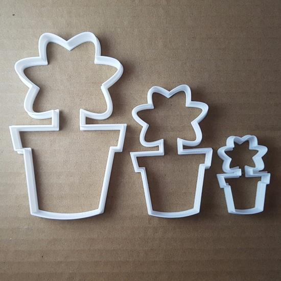 Picture of Flower Pot Garden Plant Shape Cookie Cutter Dough Biscuit Pastry Fondant Sharp