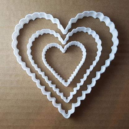 Picture of Heart Love Emoji Shape Cookie Cutter Dough Biscuit Pastry Fondant Sharp