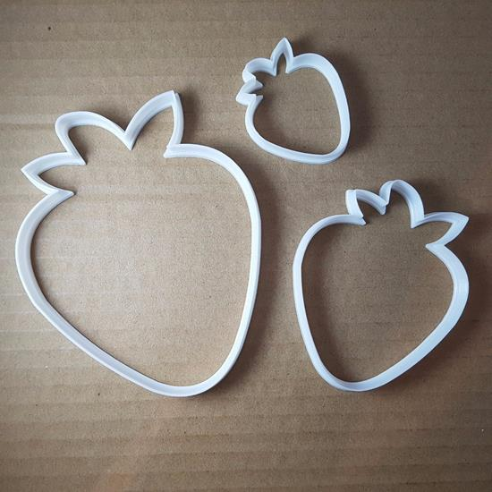 Picture of Strawberry Fruit Plant Shape Cookie Cutter Berry Biscuit Pastry Fondant Sharp