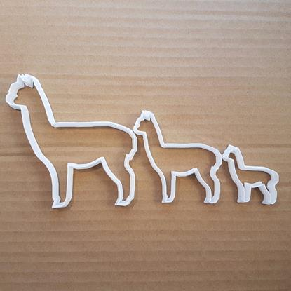 Picture of Alpaca Cookie Cutter Biscuit Dough Pastry Animal Llama Shape Stencil Suri