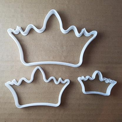 Picture of Crown Royal Monarch Tiara Shape Cookie Cutter Dough Biscuit Pastry Fondant Sharp