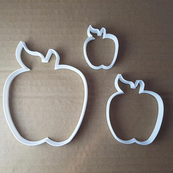 Picture of Apple Fruit Plant Shape Cookie Cutter Dough Biscuit Pastry Fondant Sharp Food