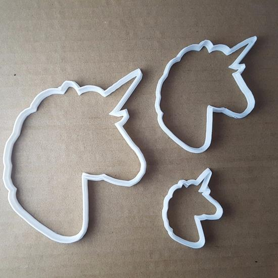 Picture of Unicorn Horse Mythical Shape Cookie Cutter Animal Biscuit Pastry Fondant Sharp