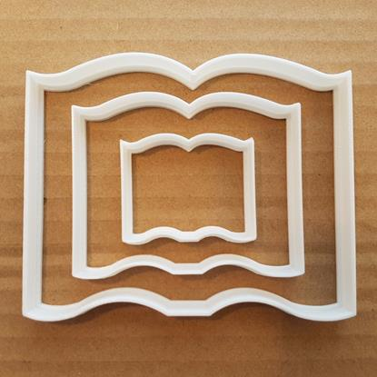 Picture of Book Cookie Cutter Shape Dough Biscuit Pastry Magazine Reading Newspaper