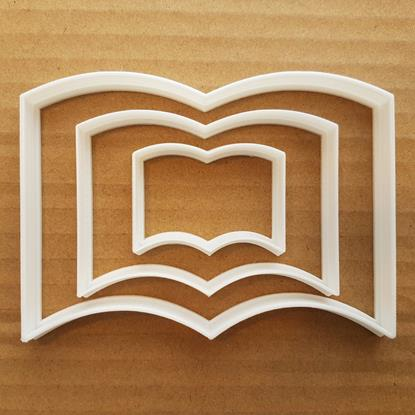 Picture of Book Shape Cookie Cutter Magazine Biscuit Pastry Dough Reading Newspaper