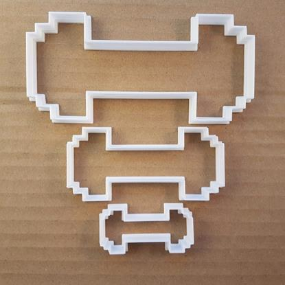 Picture of Barbell Weight Lift Train Shape Cookie Cutter Dough Biscuit Pastry Fondant Sharp
