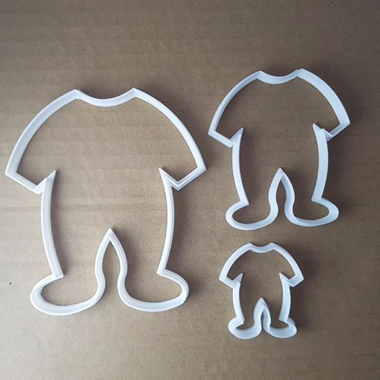 Picture of Baby Grow Bodysuit Shape Cookie Cutter Dough Biscuit Pastry Fondant Shower Sharp