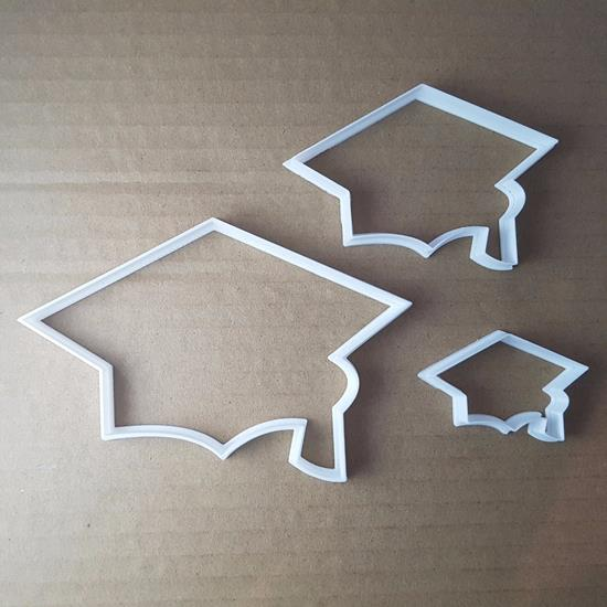 Picture of Academic Hat Graduate Cap University Cookie Cutter Biscuit Pastry Fondant Sharp