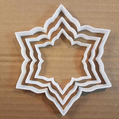Picture of Snowflake Cookie Cutter Dough Pastry Biscuit Winter Ice Xmas Christmas Weather