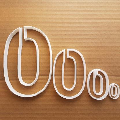 Picture of Zero 0 Number Digit Shape Cookie Cutter Dough Biscuit Pastry Fondant Sharp