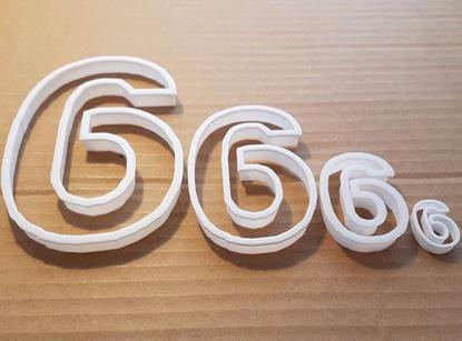 Picture of Six 6 Number Digit Shape Cookie Cutter Dough Biscuit Pastry Fondant Sharp