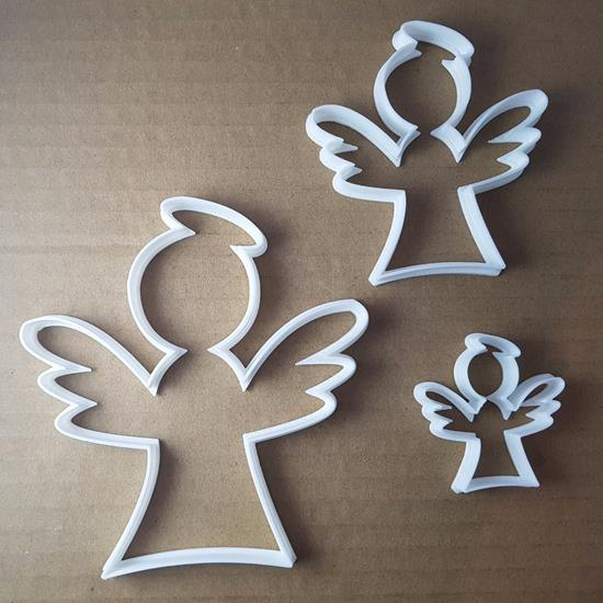 Picture of Angel Christmas Xmas Shape Cookie Cutter Dough Biscuit Pastry Fondant Sharp