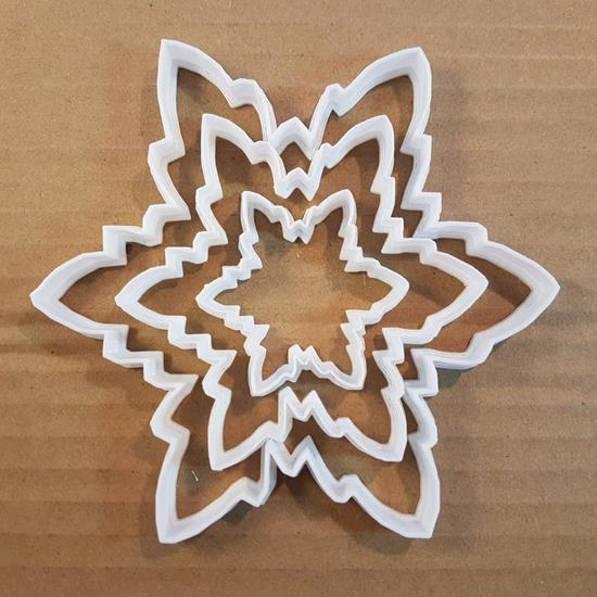 Picture of Snowflake Cookie Cutter Shape Pastry Stencil Biscuit Xmas Winter Ice Christmas