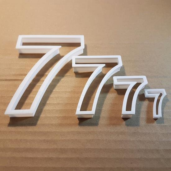 Picture of Seven 7 Number Digit Shape Cookie Cutter Dough Biscuit Pastry Fondant Sharp
