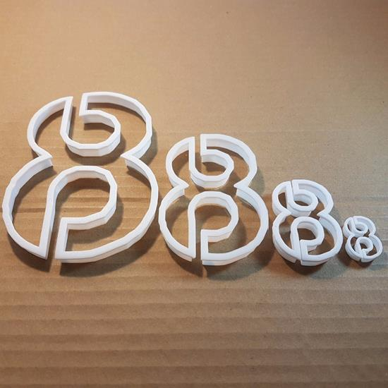 Picture of Eight 8 Number Digit Shape Cookie Cutter Dough Biscuit Pastry Fondant Sharp