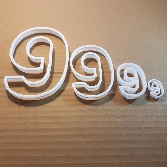 Picture of Nine 9 Number Digit Shape Cookie Cutter Dough Biscuit Pastry Fondant Sharp