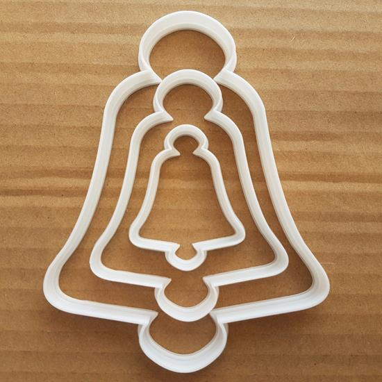 Picture of Bell Cookie Cutter Dough Biscuit Pastry Xmas Christmas Sleigh Bells Reindeer
