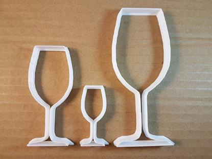 Picture of Wine Glass Party Drink Shape Cookie Cutter Dough Biscuit Pastry Fondant Sharp