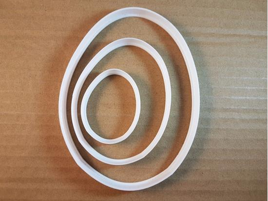 Picture of Egg Oval Food Shell Shape Cookie Cutter Easter Biscuit Pastry Fondant Sharp