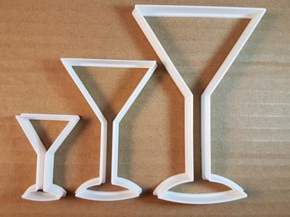 Picture of Cocktail Glass Drink Shape Cookie Cutter Dough Biscuit Pastry Fondant Sharp
