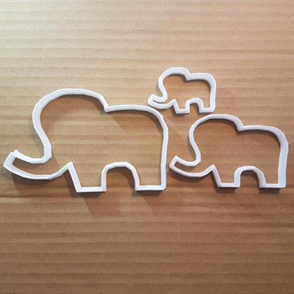 Picture of Elephant Animal Mammoth Shape Cookie Cutter Dough Biscuit Pastry Fondant Sharp