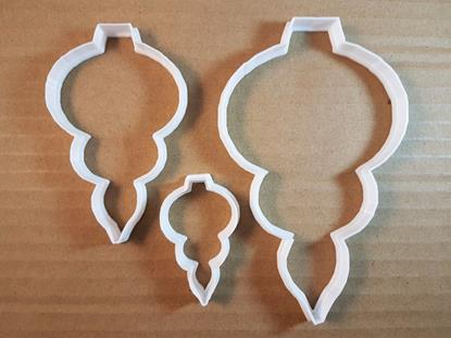 Picture of Bauble Tree Decoration Shape Cookie Cutter Dough Biscuit Pastry Fondant Sharp