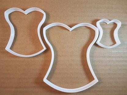 Picture of Corset Underwear Lingerie Shape Cookie Cutter Dough Biscuit Pastry Fondant Sharp