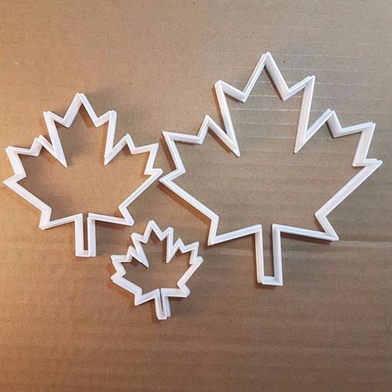 Picture of Canadian Flag Maple Leaf Shape Cookie Cutter Dough Biscuit Pastry Fondant Sharp