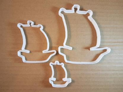 Picture of Boat Ship Pirate Sail Shape Cookie Cutter Dough Biscuit Pastry Fondant Sharp