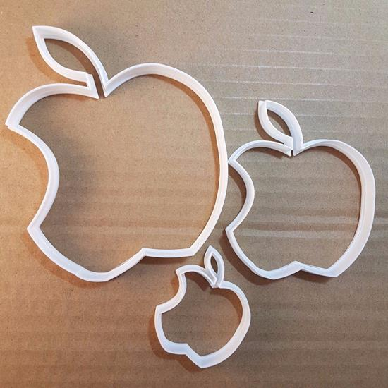 Picture of Apple Fruit Food Eaten Shape Cookie Cutter Dough Biscuit Pastry Fondant Sharp