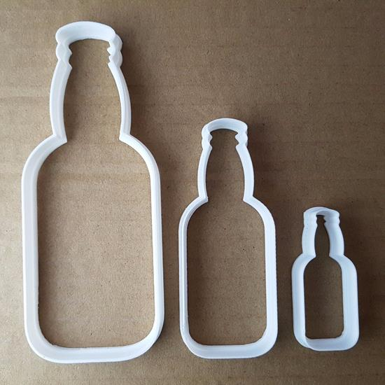 Picture of Beer Bottle Alcohol Drink Shape Cookie Cutter Dough Biscuit Pastry Fondant Sharp