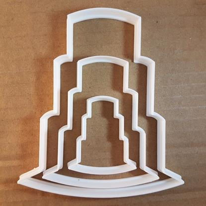 Picture of Cake Wedding Desert Tower Shape Cookie Cutter Dough Biscuit Pastry Fondant Sharp