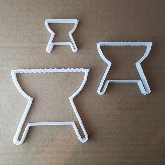 Picture of BBQ Barbecue Barby Food Shape Cookie Cutter Dough Biscuit Pastry Fondant Sharp