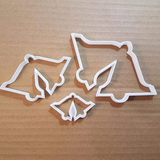 Picture of Bells Xmas Christmas Shape Cookie Cutter Dough Biscuit Pastry Fondant Sharp Bell