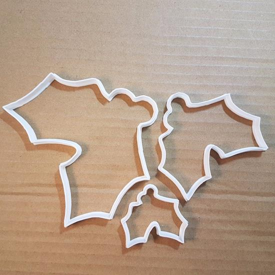 Picture of Holly Berries Xmas Shape Cookie Cutter Biscuit Pastry Fondant Sharp Christmas