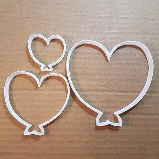 Picture of Balloon Heart Love Cookie Cutter Biscuit Pastry Fondant Sharp Valentine's Day